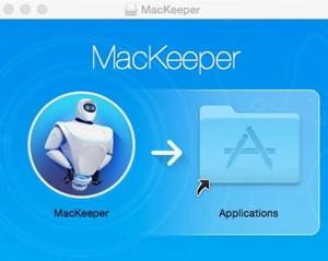หน้าตาของโปรแกรม MacKeeper ก่อนการติดตั้งเข้าในระบบ