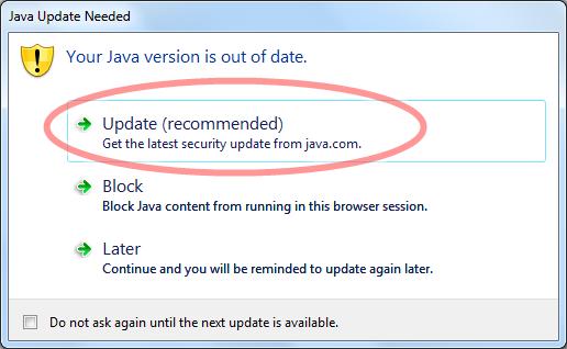 ต้องมีการติดตั้ง version ใหม่ โดยเลือกที่ Update